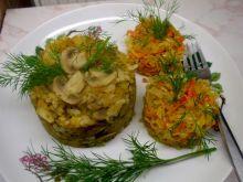Ryż z pieczarkami dynią i jabłkiem