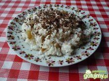 Ryż z rodzynkami i tartą czekoladą