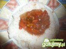 ryż z sosem słodko- kwaśnym
