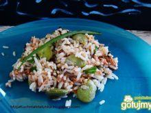 Ryż z tuńczykiem, bobem i szczypiorem