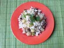 Ryż z warzywami i pieczarkami