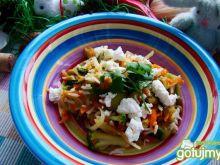 Ryż z warzywami i serem feta