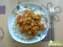 Ryż z warzywami i ze schabem
