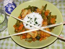 Ryż z warzywami wiosennymi