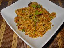 Ryż z wędzoną makrelą