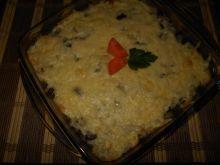 Ryż zapiekany z pieczarkami i serem