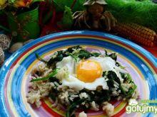 Ryż ze szpiankiem i jajkiem
