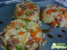 Ryżowe danie z foremek