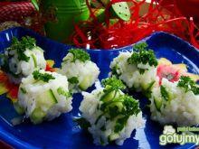 Ryżowe kulki z ogórkiem