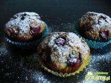 Ryżowe muffinki z malinami