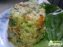 Ryżowe piramidki z warzywami