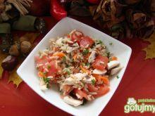 Ryżowo pomidorowa z pieczarkami