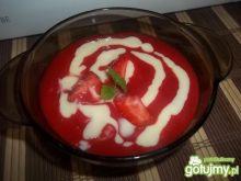 Ryżowy deser z musem truskawkowym