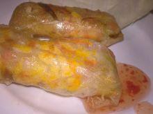 Sajgonki z ryżem i marchewką