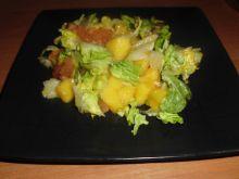 Sałata rzymska z mango