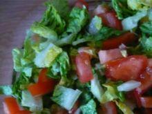 Sałata rzymska z pomidorkami