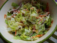 Sałata z porem - surówka obiadowa