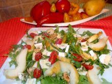 Sałata z rukoli z gruszką