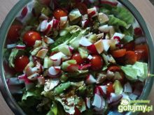 Sałata z rzodkiewką i pomidorem