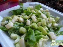 Sałata z sosem miodowym