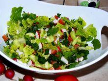 Sałata ze świeżych warzyw
