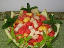 Sałatka arbuzowo - melonowa