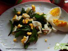 Sałatka botwinkowa z jajkiem