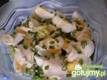 Sałatka brokułowo-jajeczna