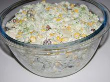 Sałatka brokułowo-kalafiorowa