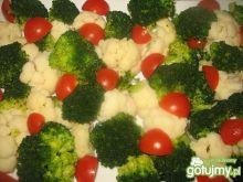 Sałatka brokułowo - kalafiorowa