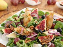 Sałatka figa z gruszką