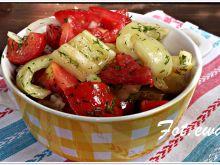 Sałatka grillowa - pomidor, papryka