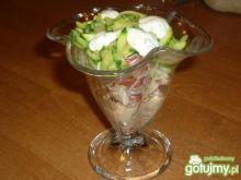 Sałatka gyros z cukinią