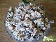 Sałatka gyrosowo-pieczarkowa