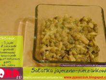 Sałatka jajeczno-pieczarkowa