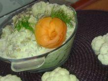 Sałatka kalafiorowa z fasolką szparagową
