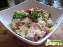 Sałatka kartoflana z surimi