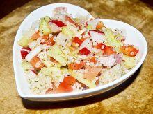 Sałatka (kasza,rzodkiewka,pomidor,ogórek, papryka)