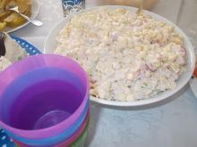 Sałatka makaronowa z szynki