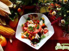 Sałatka meksykańska z dorszem