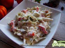 Sałatka obiadowa z sosem majonezowym