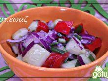 Sałatka - ogórek i papryka