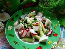 Sałatka ogórkowa z serem feta i sosem