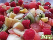 Sałatka owocowa z arbuzem.
