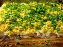 Sałatka pieczarkowa w formie ciasta