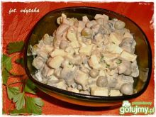 Sałatka pieczarkowa z ogórkiem kiszonym