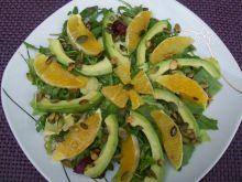 Sałatka pomarańczowa z awokado