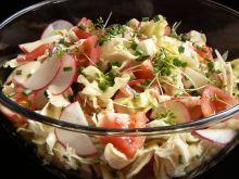 Sałatka pomidor rzodkiewka sałata