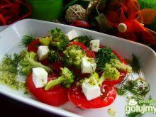 Sałatka pomidorowo brokułowa