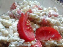 Sałatka pomidorowo - czosnkowa